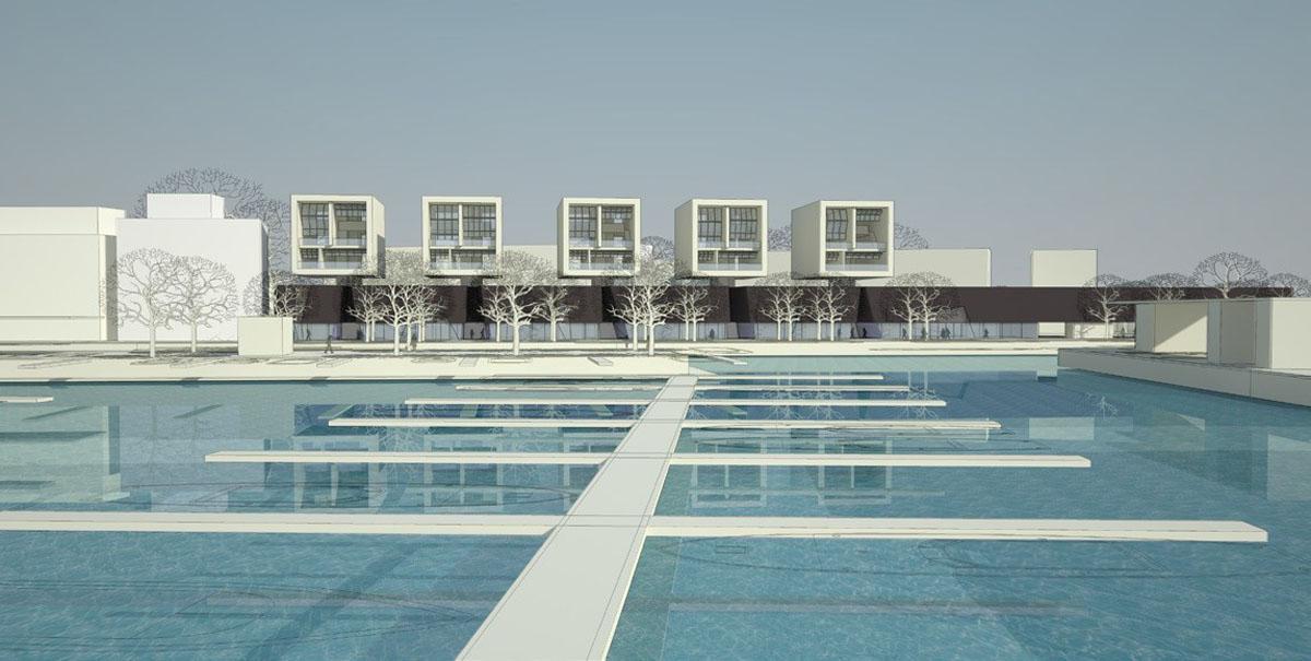 泳池建筑手绘速写基础